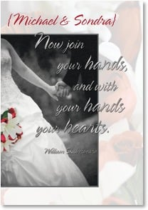 Wedding Card - With your hands your hearts: Shakespeare | Ross and Kammi Bothwell | 2002125-P | Leanin' Tree