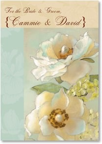Wedding Card - Wishing You a Lifetime of Love | Dianne Woods | 2002126-P | Leanin' Tree