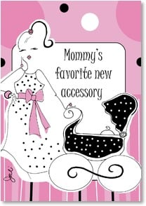 Baby Congratulations Card - You are rockin' the mommy look! | Working Girls Design, Inc. | 2002161-P | Leanin' Tree