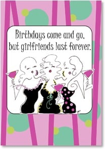Birthday Card - Staff Pick - Happy Birthday To My BFF! | Working Girls Design, Inc. | 2002162-P | Leanin' Tree