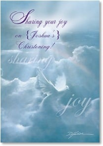 Christening Card - Sharing your joy; psalm 115:14 | Danny Hahlbohm | 2002164-P | Leanin' Tree