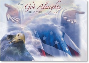 Military / Troop Support Card - Prayers for God's blessing and care. | Danny Hahlbohm | 2002169-P | Leanin' Tree