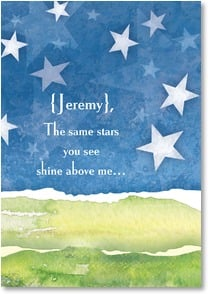 Patriotic & American Pride Card - The same stars you see shine above me... | LT Studio | 2002170-P | Leanin' Tree