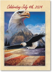 Independence Day Card - A man's country is not an area of land, but a principle | Ray Simon | 2002173-P | Leanin' Tree