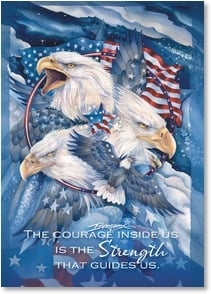 Military / Troop Support Card - Patriotic pride | Jody Bergsma | 2002174-P | Leanin' Tree