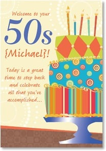 Birthday Card {Name} - Make the next 50 even more special | LT Studio | 2002186-P | Leanin' Tree