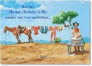 Birthday Card {Name} - You Just Gotta Do It | Boots Reynolds | 2002197-P | Leanin' Tree