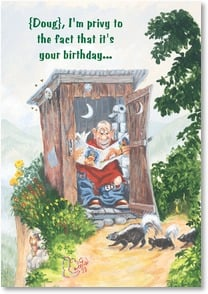 Birthday Card - Happy Birthday To A Real Regular Guy | Boots Reynolds | 2002209-P | Leanin' Tree