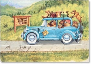 Bon Voyage Card - Y'all have a wildly wonderful trip | Boots Reynolds | 2002223-P | Leanin' Tree