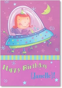 Birthday Card - Out of this world day! | Viv Eisner | 2002250-P | Leanin' Tree