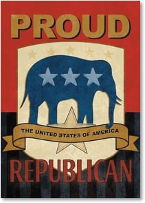 Blank Card with Quote / Saying - Proud Republican | ARTLY | 2002254-P | Leanin' Tree