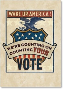 Politics & Campaign Card - We're Counting on Your Vote | Phoenix Creative | 2002255-P | Leanin' Tree