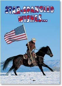Birthday Card - Star Spangled Wishes | Christopher Marona | 2002258-P | Leanin' Tree