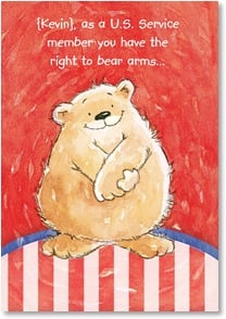 Birthday Card - The right to bear arms &amp; hugs... | Margaret Sherry | 2002260-P | Leanin' Tree