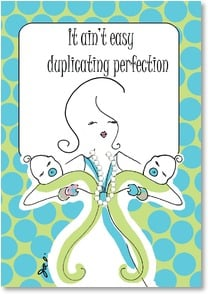 Baby Congrats - Twins - Duplicating Perfection - Twin Boys | Working Girls Design, Inc. | 2002286-P | Leanin' Tree