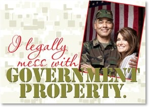 Military / Troop Support Card - I'm passionate about my country! XOXOX | LT Studio | 2002308-P | Leanin' Tree