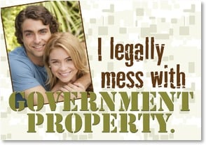 Love & Flirts Card - Legally messing with government property | LT Studio | 2002309-P | Leanin' Tree