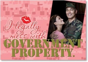Valentine's Day Card - I Mess with Government Property | LT Studio | 2002310-P | Leanin' Tree
