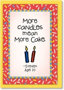 Birthday Card - More candles, more cake. | Kate Harper | 2002311-P | Leanin' Tree