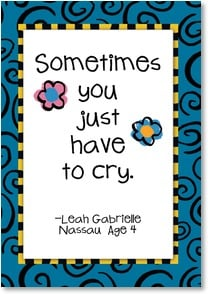 Encouragement &amp; Support Card - It's OK to cry... | Kate Harper | 2002313-P | Leanin' Tree