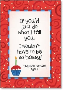 Birthday Card - If you'd just do what I tell you... | Kate Harper | 2002318-P | Leanin' Tree