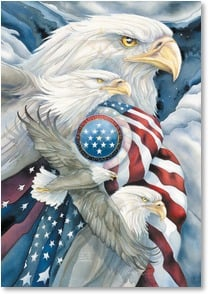 Independence Day Card - We dare not forget: John F. Kennedy | Jody Bergsma | 2002334-P | Leanin' Tree