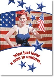 Love & Flirts Card - More fun OUT of uniform! | Masterfile Corporation | 2002337-P | Leanin' Tree