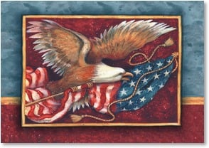 Veterans Day Card - In thanks for the years you served... | Susan Winget | 2002341-P | Leanin' Tree