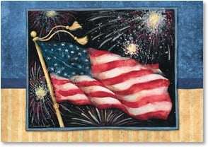 Independence Day Card - Long may she wave! | Susan Winget | 2002342-P | Leanin' Tree
