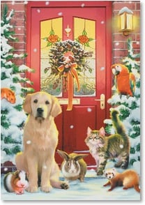Holiday Card - Season's Greetings from All of Us | Howard Robinson | 2002349-P | Leanin' Tree