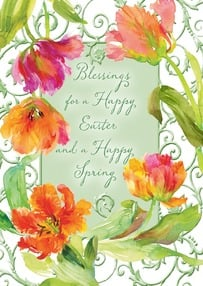 Easter Card - Enjoy a beautiful celebration! | Gail Flores | 2002356-P | Leanin' Tree