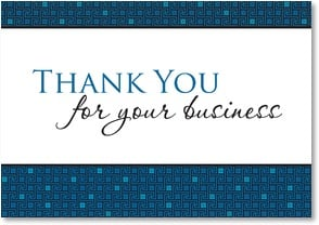 Thank you for your business we appreciate your for We appreciate your business cards