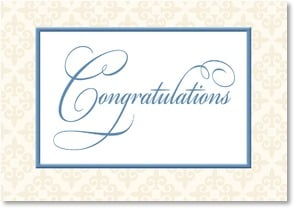 Congratulations Card - Warm congratulations and best wishes | LT Studio | 2002399-P | Leanin' Tree