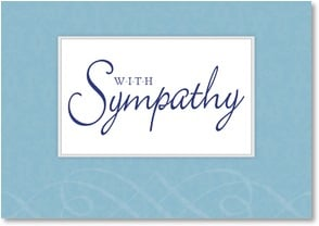 Sympathy Card - Our thoughts are with you. | LT Studio | 2002404-P | Leanin' Tree