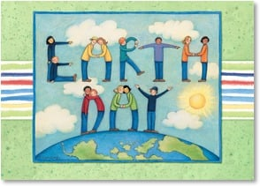 Earth Day Card - Let Us Celebrate Our Mother Earth | Susan Winget | 2002411-P | Leanin' Tree