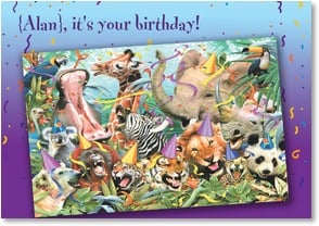 Birthday Card - It's your birthday - go wild! | Howard Robinson | 2002415-P | Leanin' Tree
