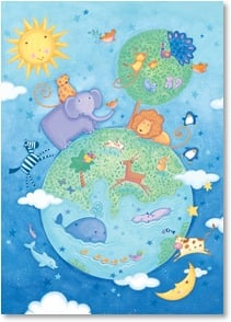 Earth Day Card - Protect Mother Earth for she provides for us all! | Viv Eisner | 2002422-P | Leanin' Tree