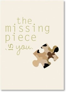Military / Troop Support Card - the missing piece - 2002459-P | Leanin' Tree
