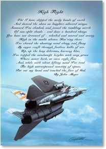 Military / Troop Support Card - High Flight - Touching the Face of God | Danny Hahlbohm | 2002476-P | Leanin' Tree