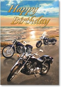 Birthday Card - Hope this finds you cruising happily | Greg Giordano | 2002507-P | Leanin' Tree