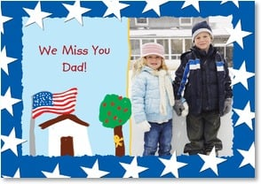 Military / Troop Support Card - We Miss You Dad! | LT Studio | 2002521-P | Leanin' Tree
