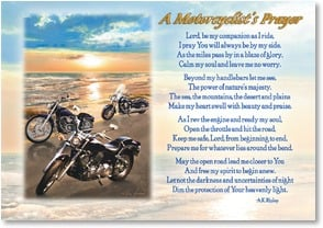 Blank Card - A Motorcyclist's Prayer | Greg Giordano | 2002525-P | Leanin' Tree