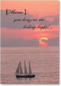 Graduation Card - Your horizons are looking bright! | Fotosearch | 2002532-P | Leanin' Tree