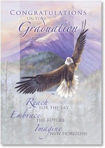 Graduation Card - The world is yours!  | Larry K. Martin | 2002535-P | Leanin' Tree