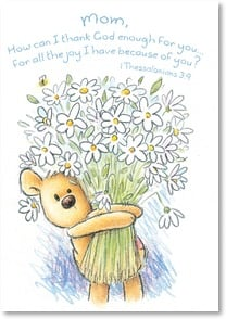 Mother's Day Card - Mother's Day wishes;1 Thessalonian 3:9 | Rory Tyger | 2002539-P | Leanin' Tree