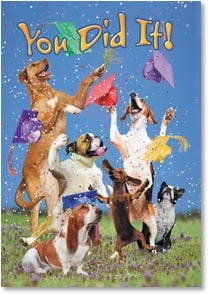 Graduation Card - You deserve a round of A-paws! | John Lund | 2002552-P | Leanin' Tree