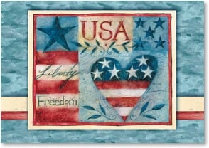 Patriotic & American Pride Card - USA Liberty Freedom | Susan Winget | 2002556-P | Leanin' Tree