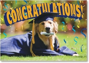 Graduation Card - You worked your tail off! | Ron Dahlquist | 2002558-P | Leanin' Tree