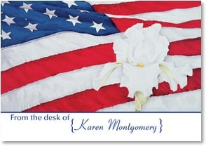 Personalized Stationery Card - Patriotic Personal Stationery | Nancy Kaestner | 2002565-P | Leanin' Tree
