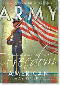 Military / Troop Support Card - Bravery, Honor & Strength; Washington | Patrick Reid O'Brien | 2002572-P | Leanin' Tree